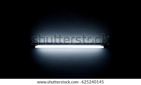 Neon light in dark room #625240145