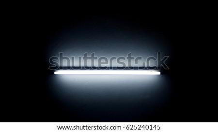 Neon light in dark room #625240145
