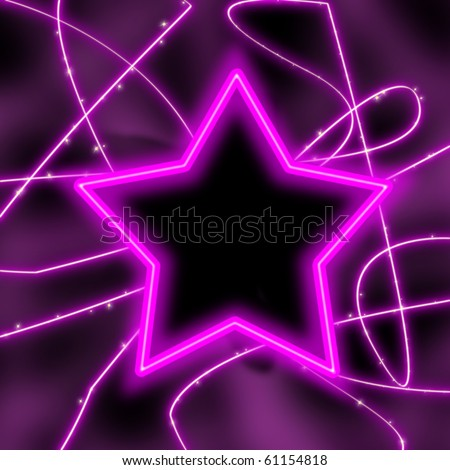 Neon Backgrounds on Neon Light Star On Black Background Stock Photo 61154818