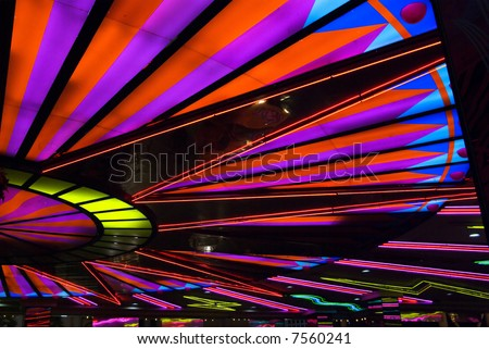 Neon lights in Las Vegas - stock photo