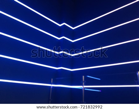 Neon lights on a blue background #721832992