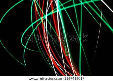 neon lines, lines, lines drawn by light  #1169418019