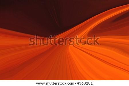 Neon Orange Pathway