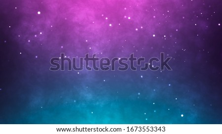 Neon particles background. Blue pink abstract glowing space stock photo