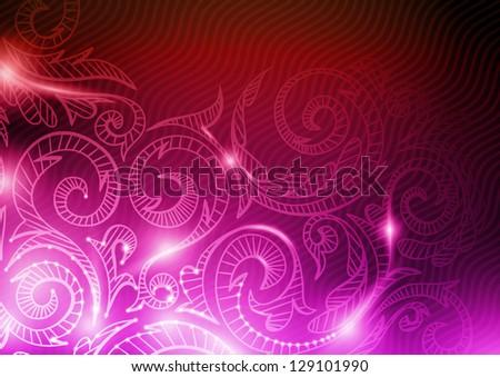 Neon pattern background.