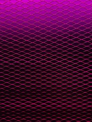 Neon pink light on a mesh forming a beautiful effect