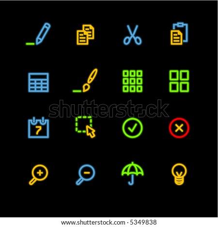 neon publish icons (raster)
