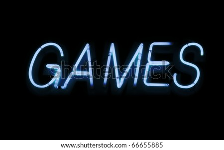 Neon sign, Games