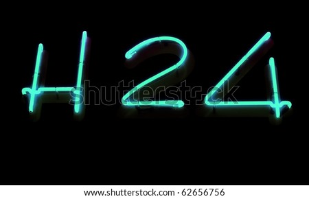 Neon sign, H 24