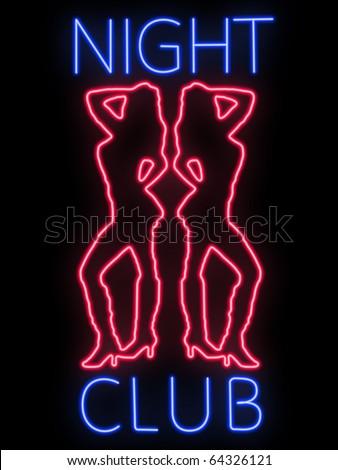 Neon sign - nightclub