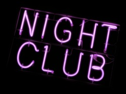 Neon sign of a night club