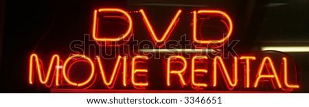 "Neon Sign Series ""Dvd Movie Rental"" Stock Photo 3346651 ..."