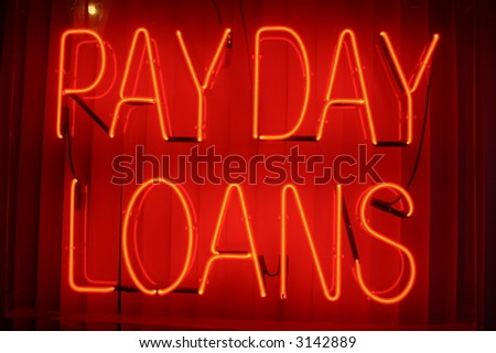"Neon Sign series  ""payday loans"""