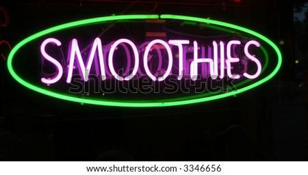 "Neon Sign Series ""smoothies"" - stock photo"