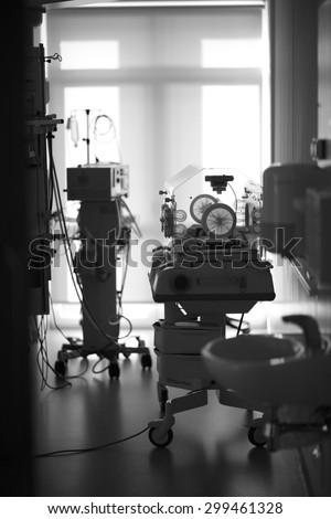 Neonatal intensive care unit, interior of a ward
