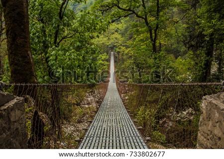 Nepal Bridge #733802677