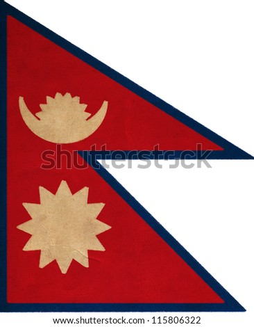 Nepal flag drawing ,grunge and retro flag series