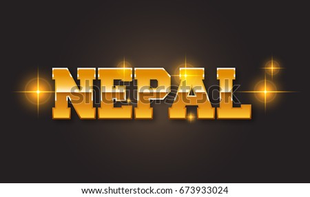 Nepal text for title destination branding