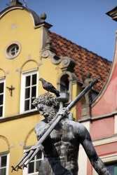 Neptune fountain in Gdansk (Poland).
