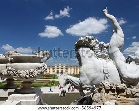 Neptune fountain, Schoenbrunn