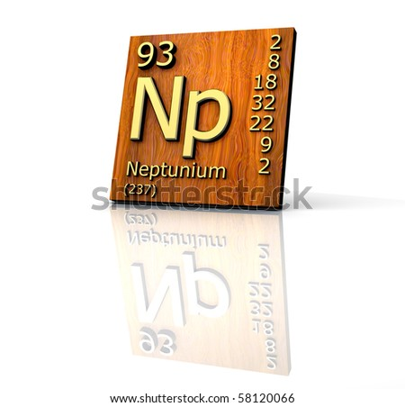 Neptunium Form Periodic Table Of Elements - Wood Board - 3d Made ...
