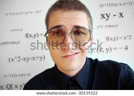 SLT group profit 3.9 billions for 2010 Stock-photo-nerd-thinking-about-math-30139222