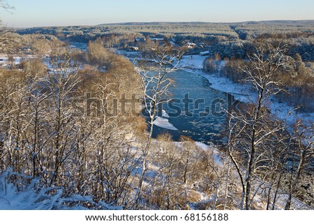 Neris river valley from Verkiai palace, Lithuania