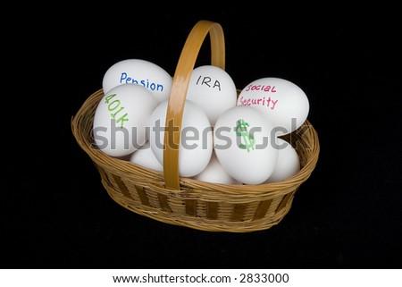 nest egg retirement basket
