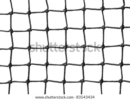 Net isolated on white