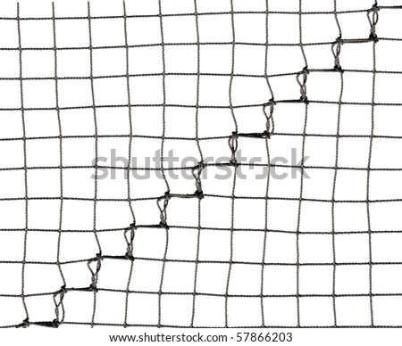 Net isolated on white with seama section