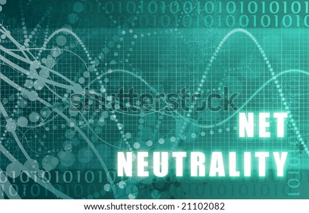 Net Neutrality on a Digital Tech Background - stock photo