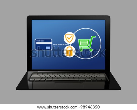 net shopping security concept