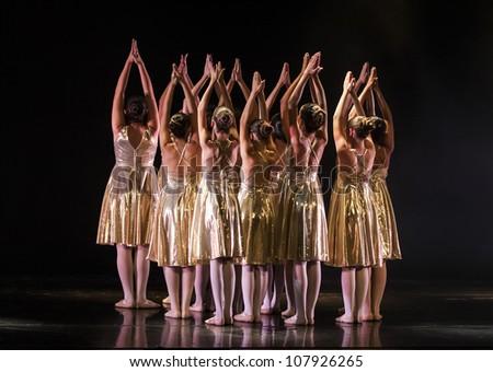 NETANIA, ISRAEL - JULY 12: final concert of the School of Ballet on July 12, 2012 in Netania, Israel.