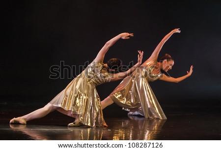 NETANIA, ISRAEL - JULY 12: final concert of the School of Ballet on July 12, 2012 in Netania, Israel. Concert at the performing arts center of Netania.