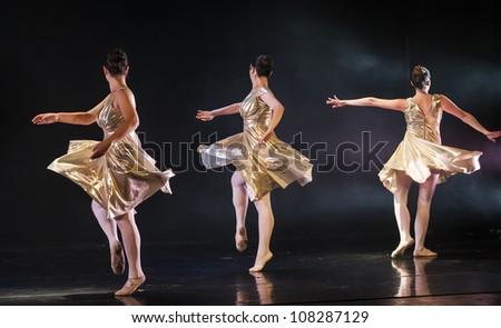 NETANIA, ISRAEL -JULY 12: Final concert of the School of Ballet on July 12, 2012 in Netania, Israel. Concert at the performing arts center of Netania