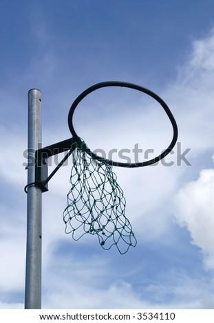 netball hoop with broken net