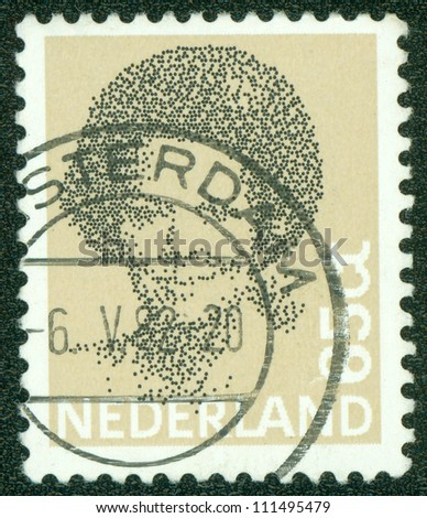 NETHERLANDS - CIRCA 1982: A stamp printed in the Netherlands shows image of Queen Beatrix, series, circa 1982