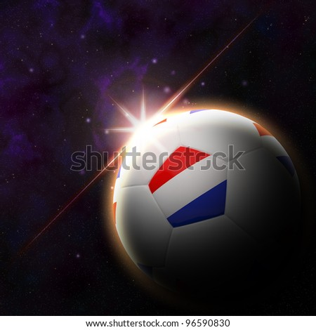 Netherlands flag on 3d football with rising sun illustration for euro 2012 Group B