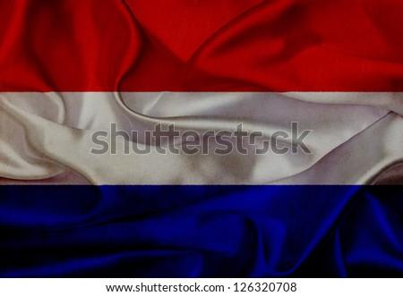 Netherlands grunge waving flag