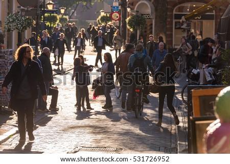 NETHERLANDS, UTRECHT - OCTOBER 01: people on the street of Utrecht on October 1, 2015 - Shutterstock ID 531726952