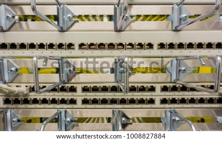 Network cable on a network HUB #1008827884