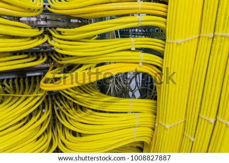 Network cable on a network HUB #1008827887