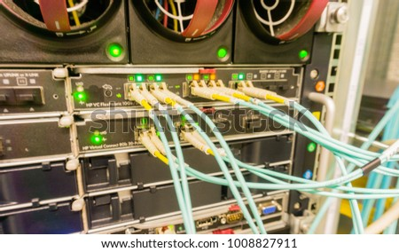 Network cable on a network HUB #1008827911