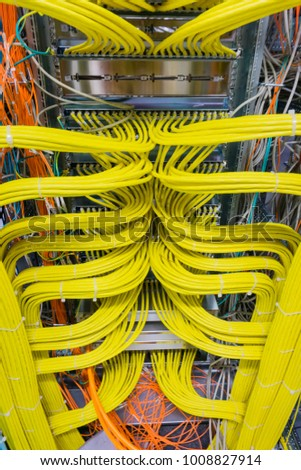 Network cable on a network HUB #1008827914
