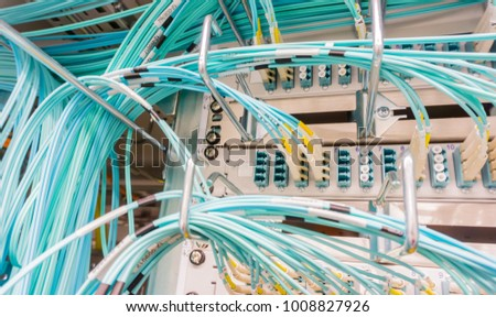 Network cable on a network HUB #1008827926