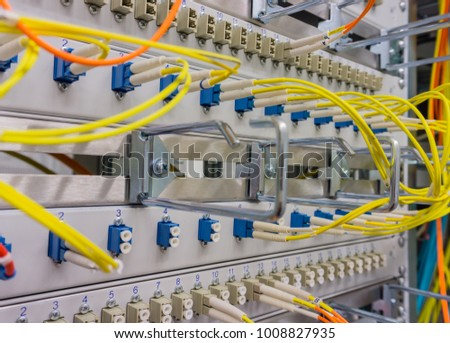 Network cable on a network HUB #1008827935