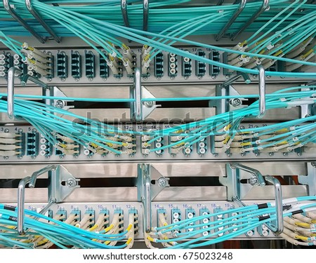 Network cable on a network HUB #675023248