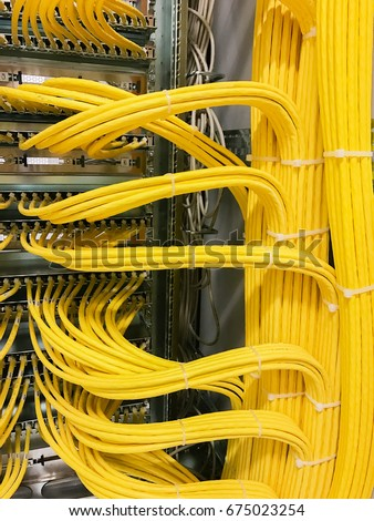 Network cable on a network HUB #675023254