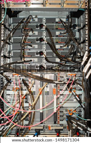 Network cable to a network switch for a cloud environment