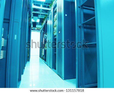network cables patch panel and switch - stock photo
